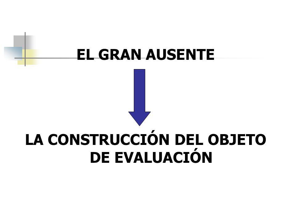 LA CONSTRUCCIÓN DEL OBJETO DE EVALUACIÓN