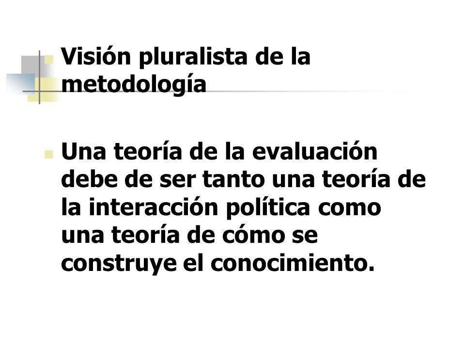 Visión pluralista de la metodología