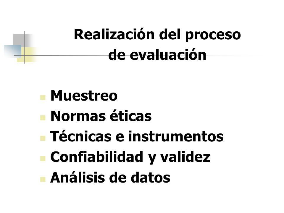 Realización del proceso