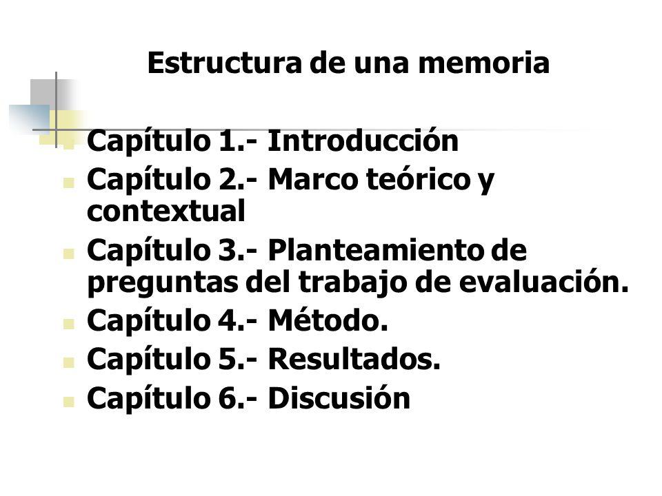 Estructura de una memoria