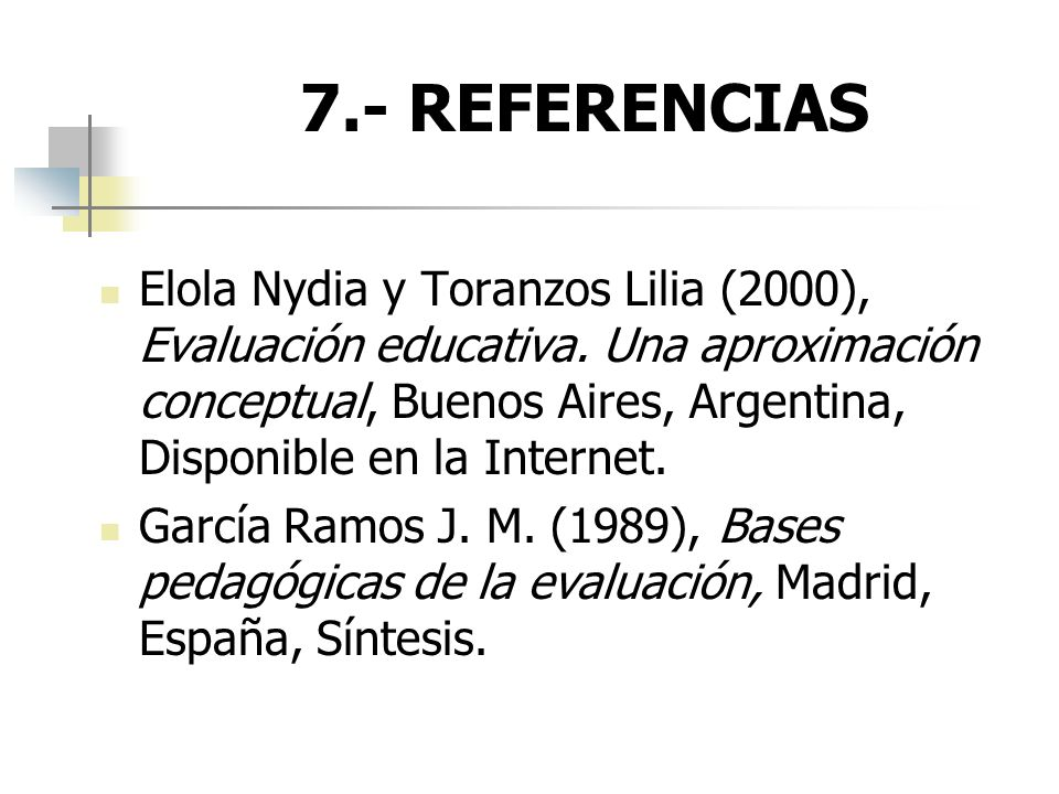 7.- REFERENCIAS