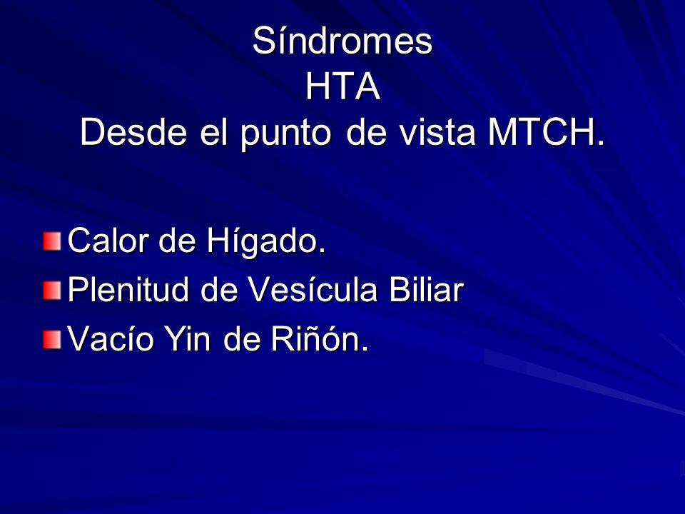 Síndromes HTA Desde el punto de vista MTCH.
