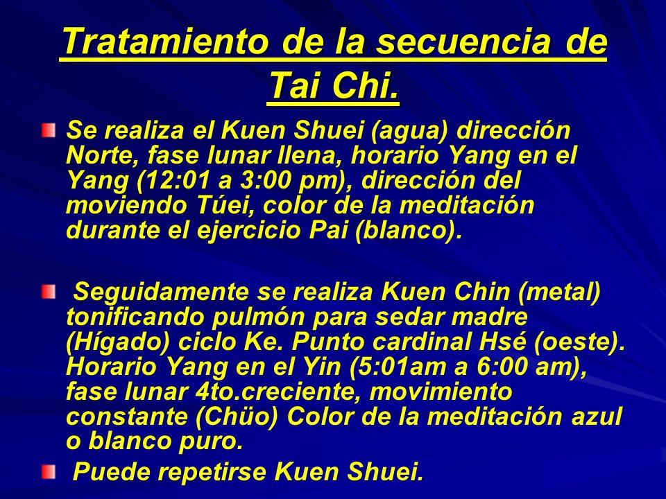 Tratamiento de la secuencia de Tai Chi.