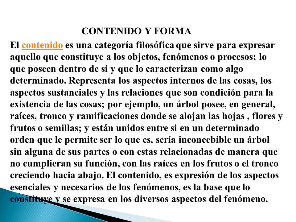 CONTENIDO Y FORMA