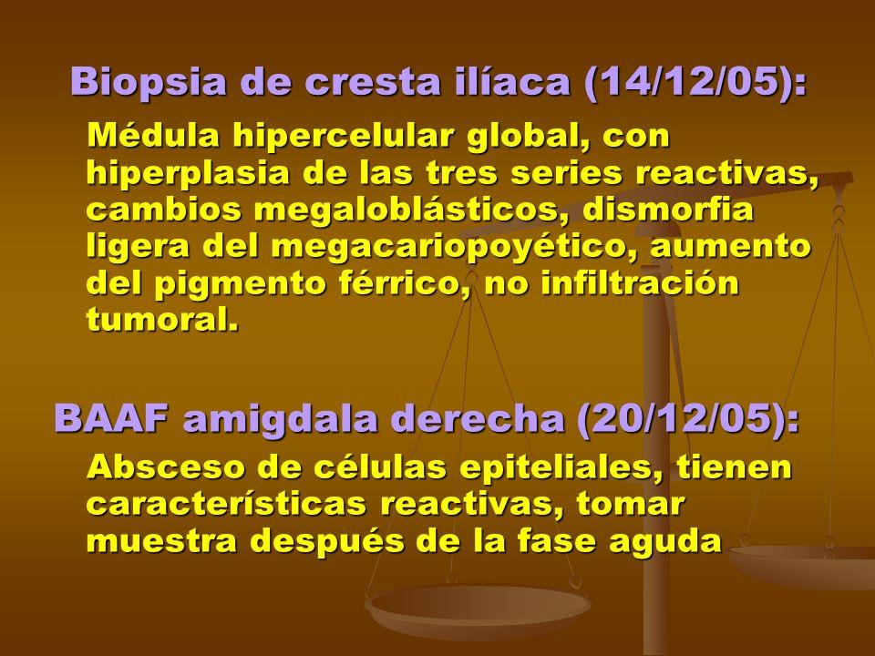 Biopsia de cresta ilíaca (14/12/05):