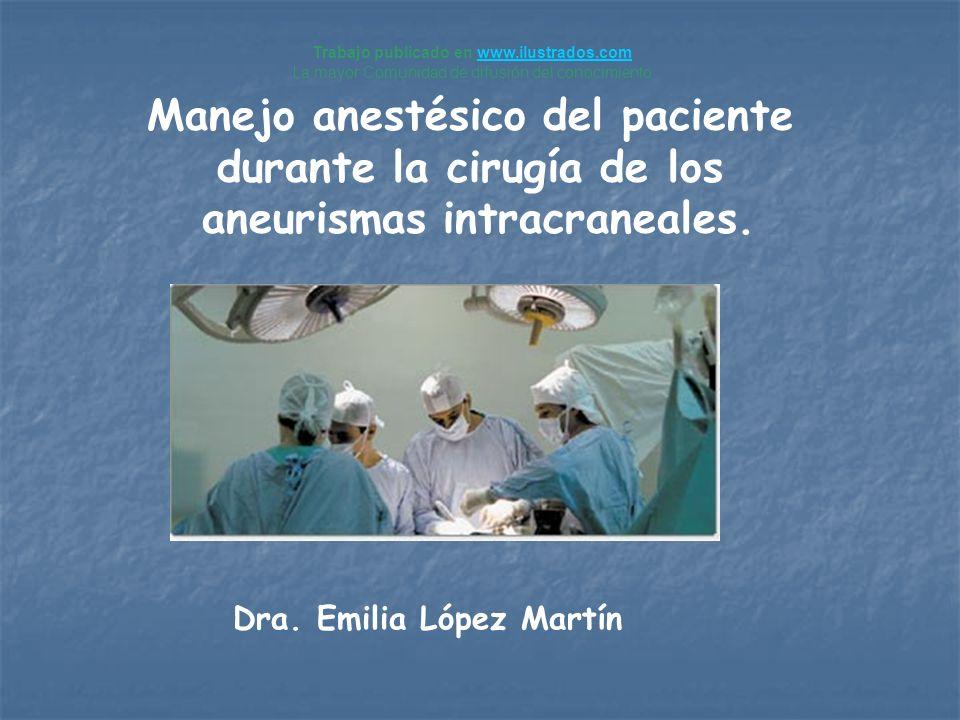 Manejo anestésico del paciente durante la cirugía de los