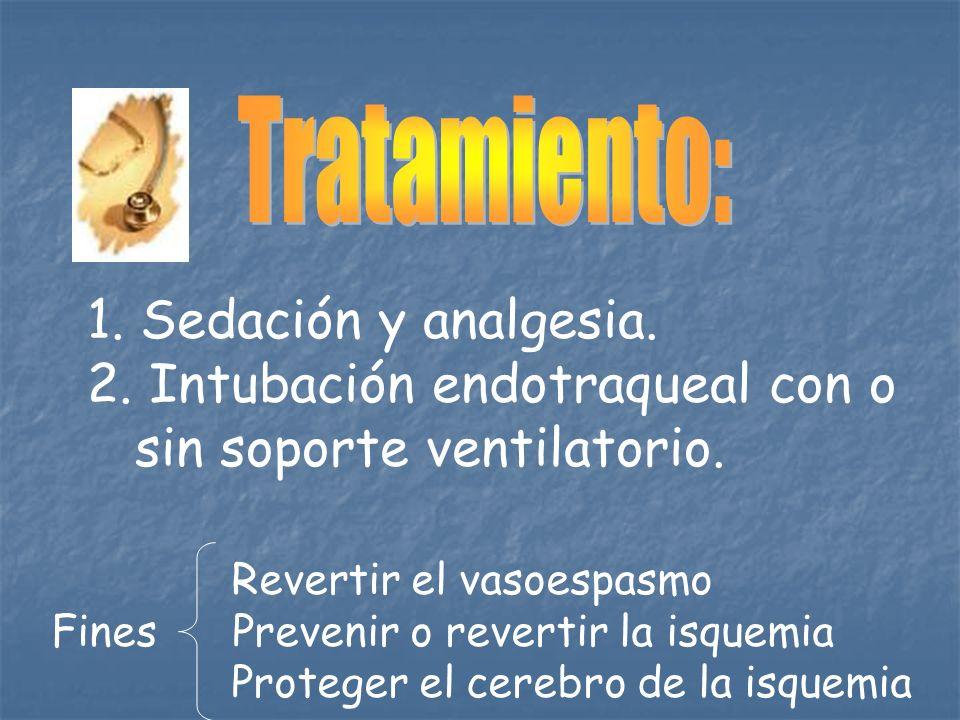 Intubación endotraqueal con o sin soporte ventilatorio.