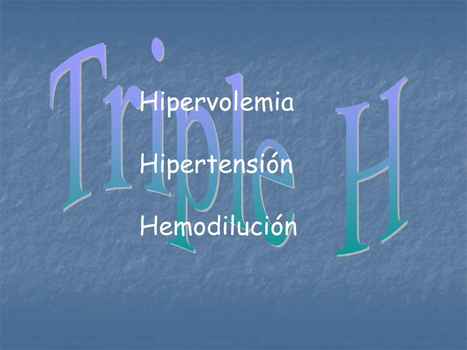 Triple H Hipervolemia Hipertensión Hemodilución