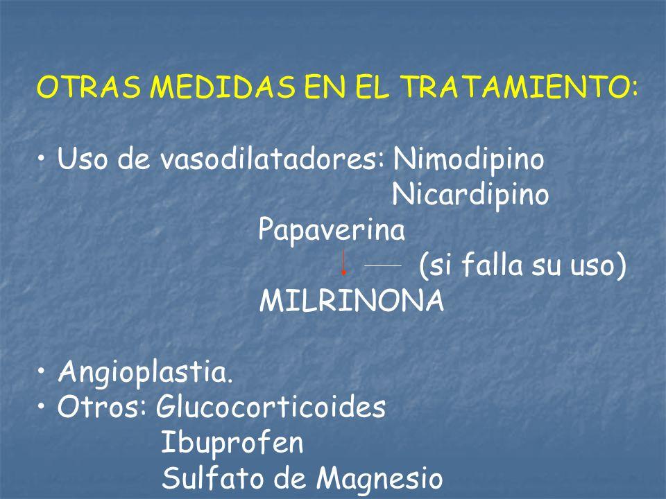 OTRAS MEDIDAS EN EL TRATAMIENTO: