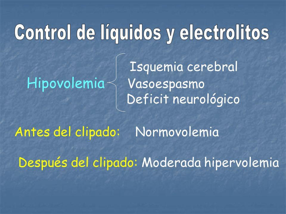 Control de líquidos y electrolitos