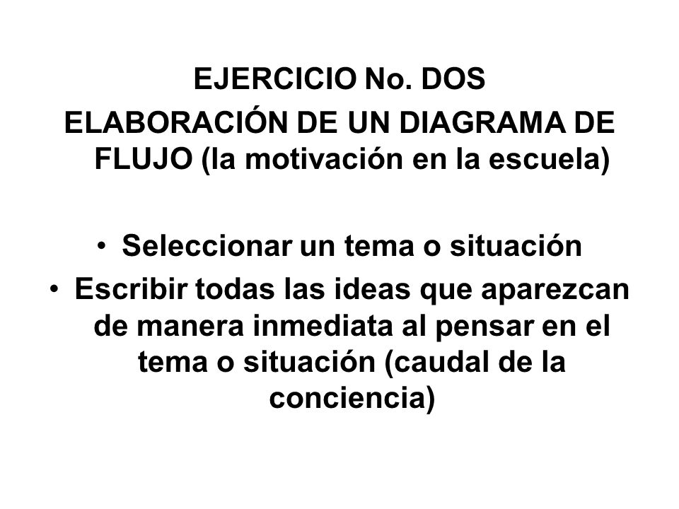 ELABORACIÓN DE UN DIAGRAMA DE FLUJO (la motivación en la escuela)