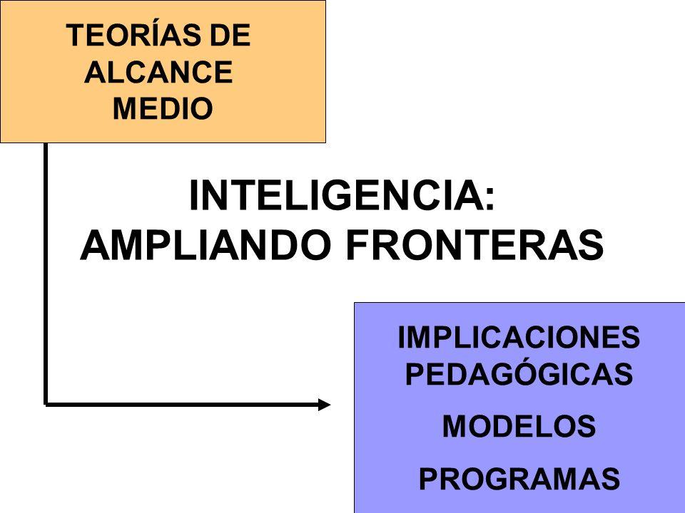 INTELIGENCIA: AMPLIANDO FRONTERAS