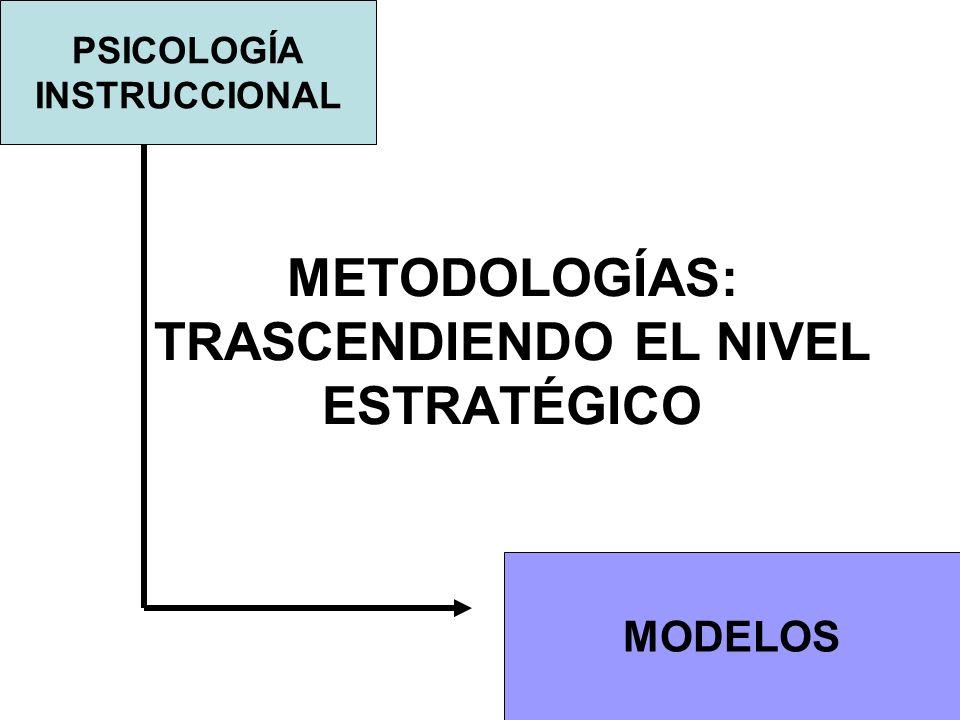 METODOLOGÍAS: TRASCENDIENDO EL NIVEL ESTRATÉGICO