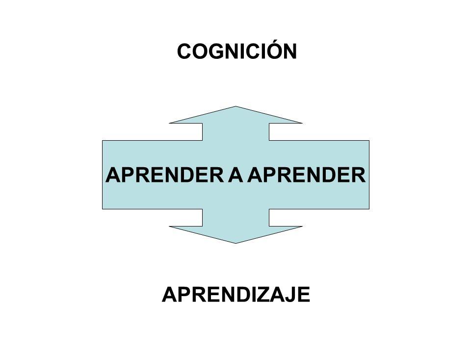 COGNICIÓN APRENDER A APRENDER APRENDIZAJE