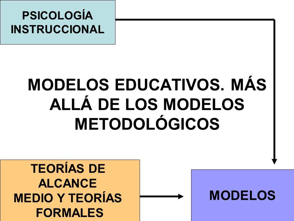 MODELOS EDUCATIVOS. MÁS ALLÁ DE LOS MODELOS METODOLÓGICOS