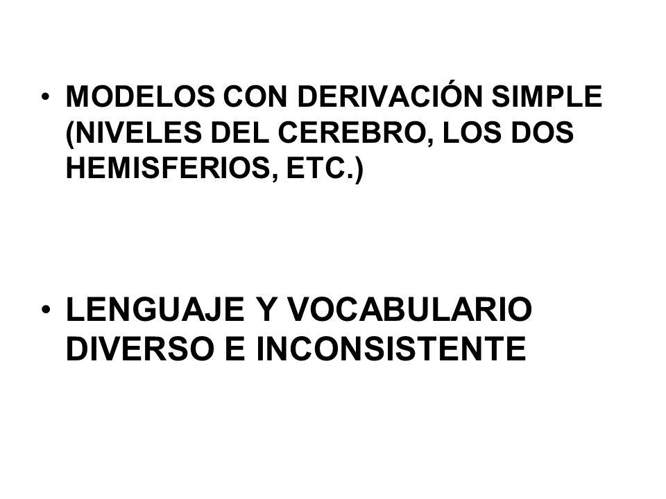 LENGUAJE Y VOCABULARIO DIVERSO E INCONSISTENTE