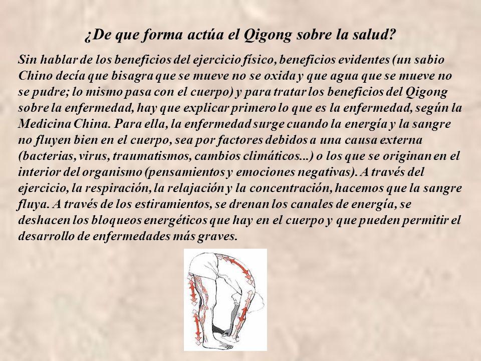 ¿De que forma actúa el Qigong sobre la salud