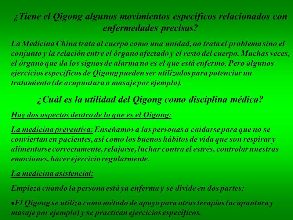 ¿Cuál es la utilidad del Qigong como disciplina médica