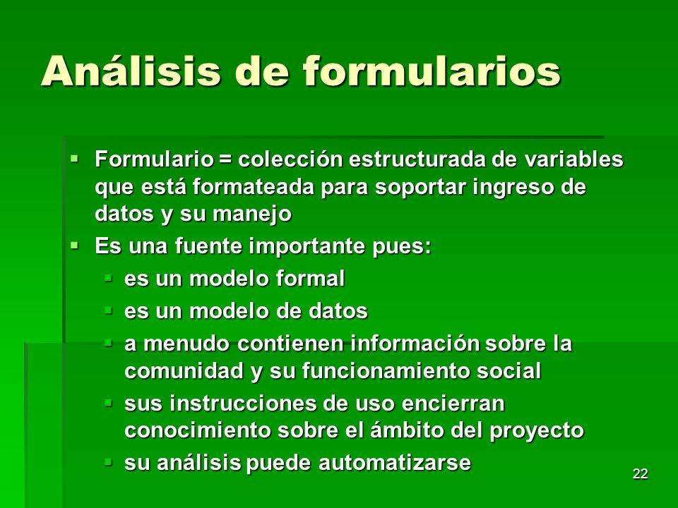 Análisis de formularios