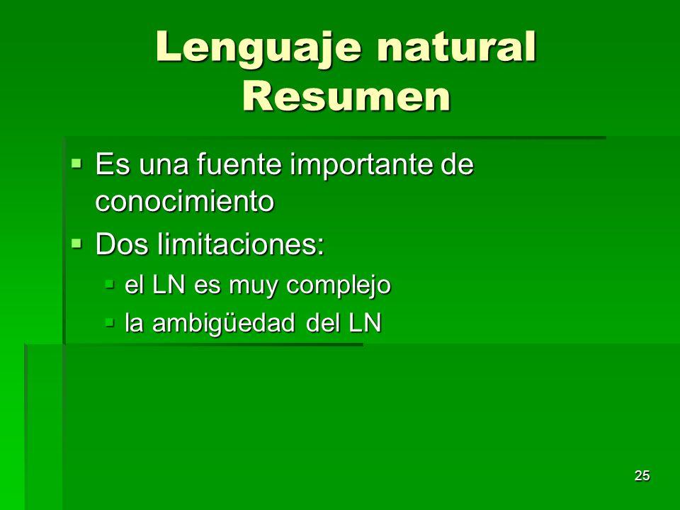 Lenguaje natural Resumen