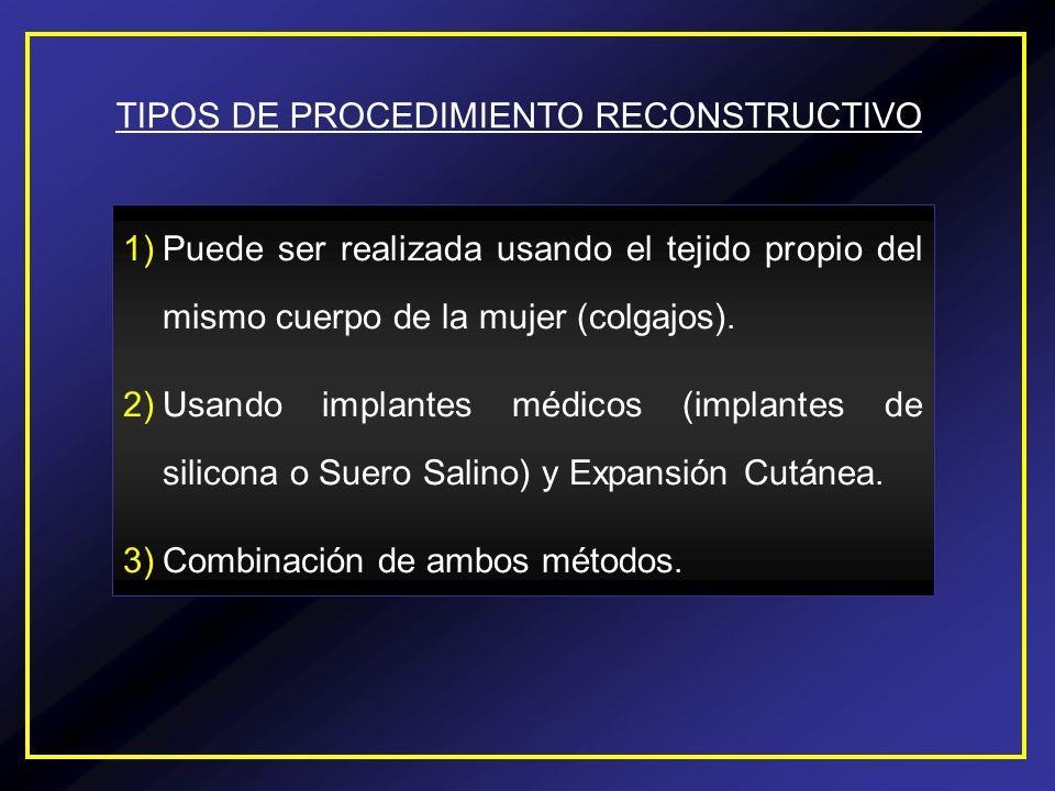 TIPOS DE PROCEDIMIENTO RECONSTRUCTIVO