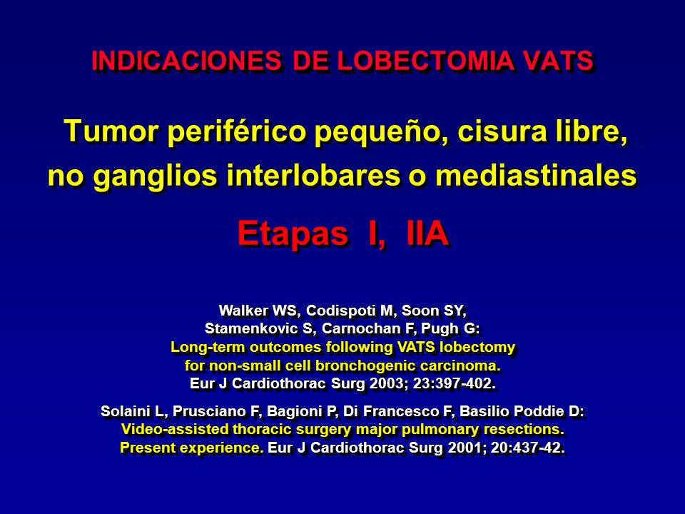 INDICACIONES DE LOBECTOMIA VATS