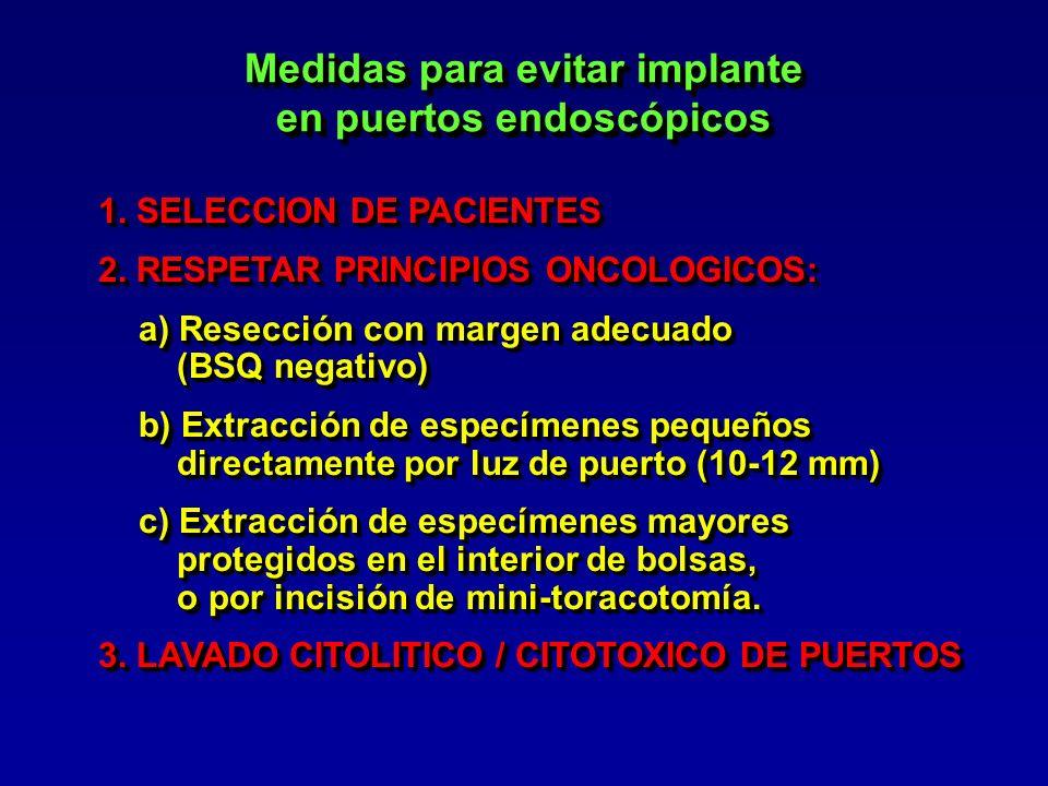 Medidas para evitar implante en puertos endoscópicos
