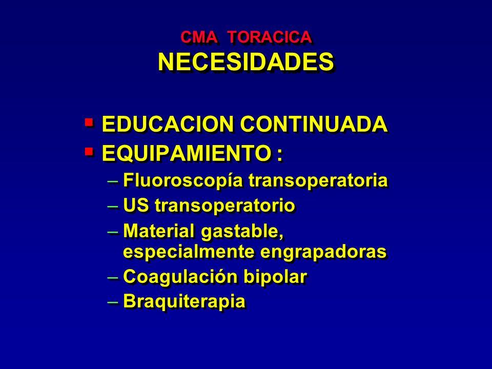 CMA TORACICA NECESIDADES