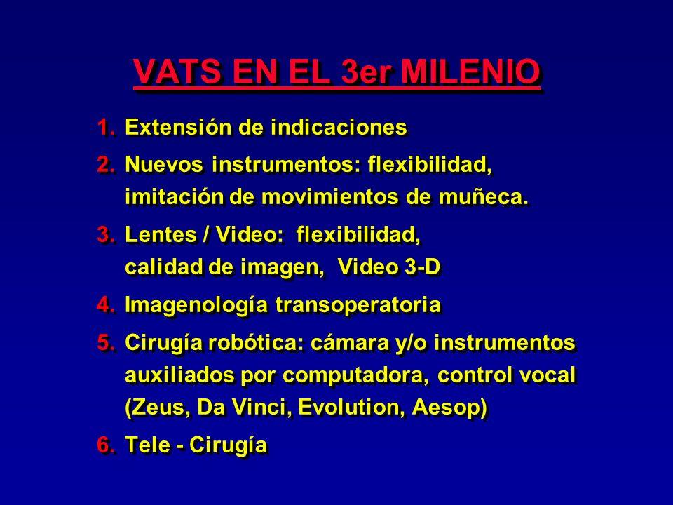 VATS EN EL 3er MILENIO Extensión de indicaciones