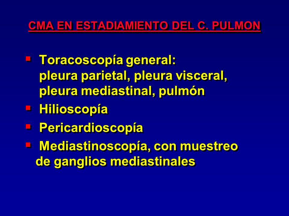 CMA EN ESTADIAMIENTO DEL C. PULMON
