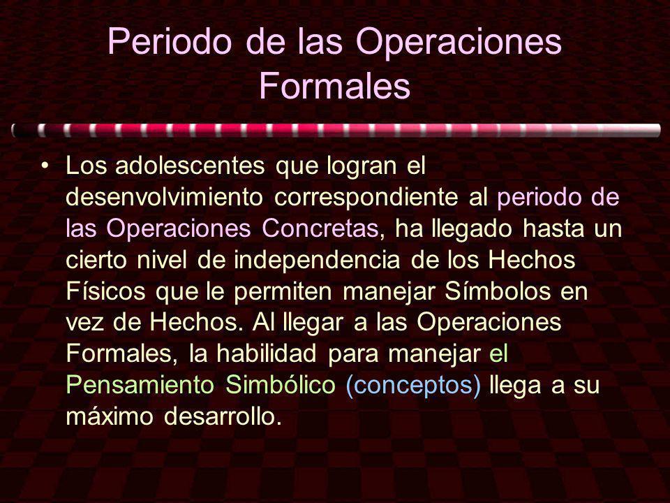 Periodo de las Operaciones Formales
