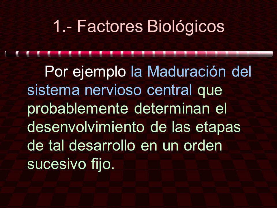 1.- Factores Biológicos
