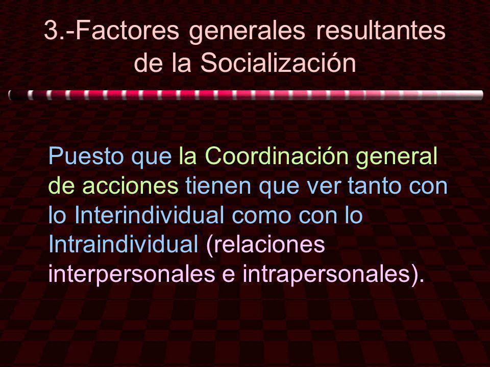 3.-Factores generales resultantes de la Socialización
