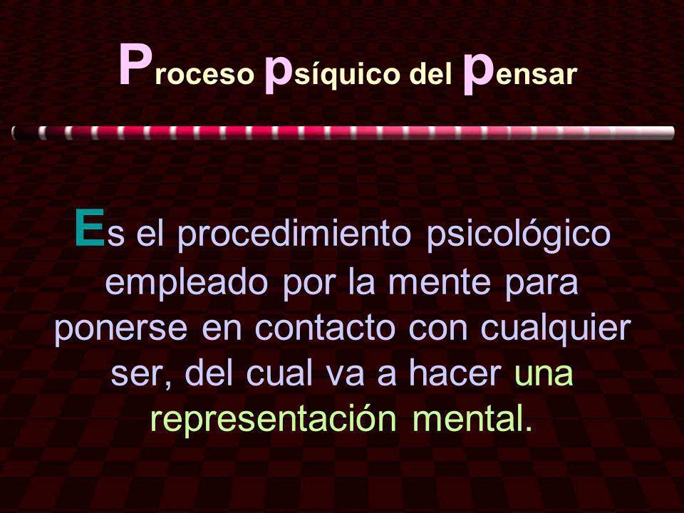 Proceso psíquico del pensar