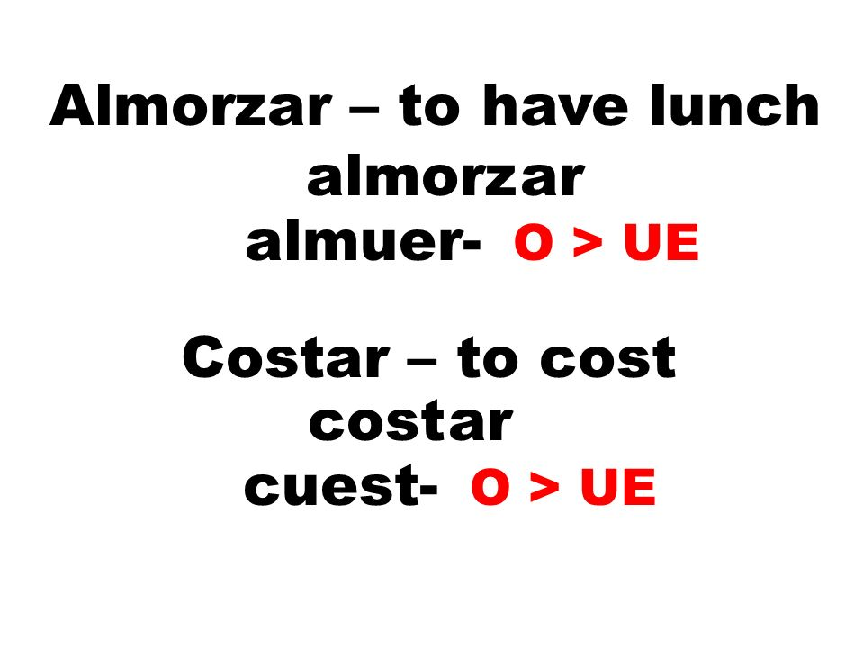 Almorzar – to have lunch