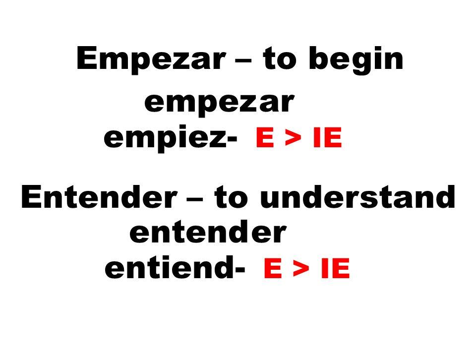 Entender – to understand