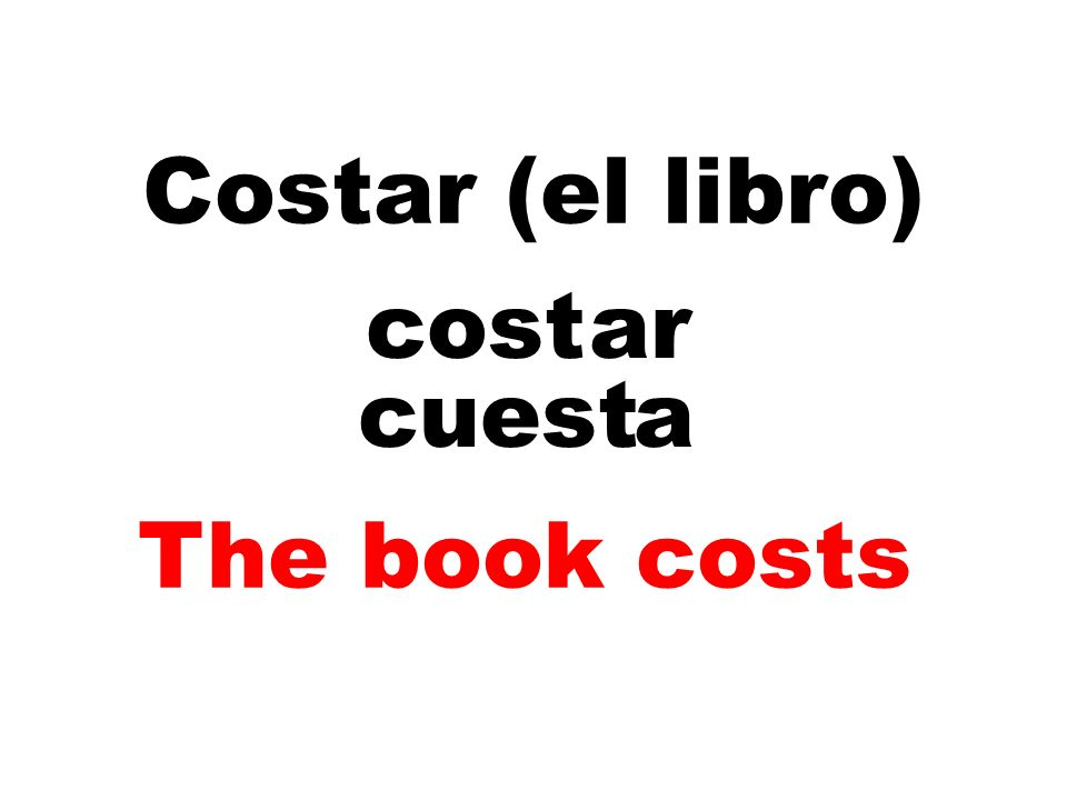 Costar (el libro) cost ar cuest a The book costs