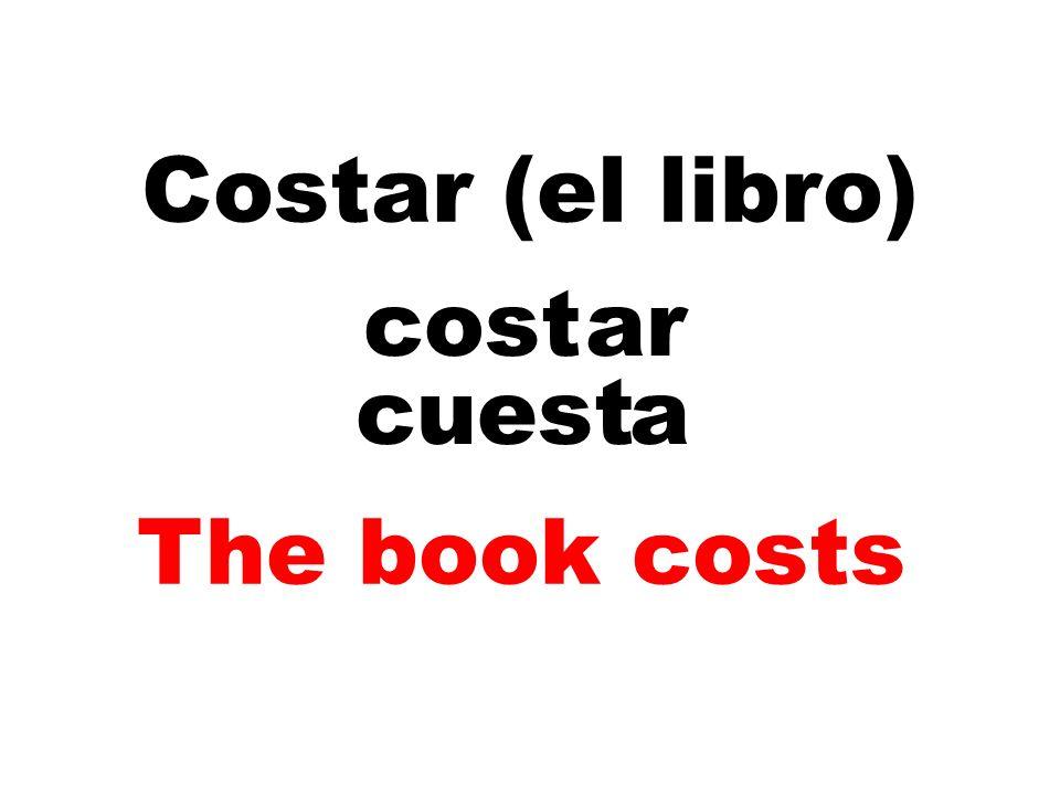 Costar (el libro) cost ar cuest a The book costs