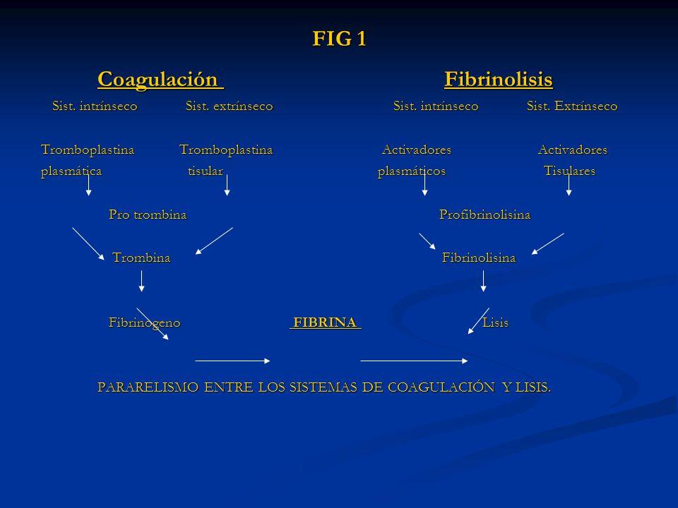 Coagulación Fibrinolisis