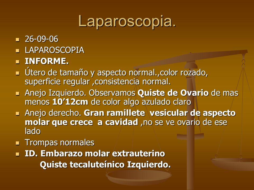 Laparoscopia. 26-09-06 LAPAROSCOPIA INFORME.