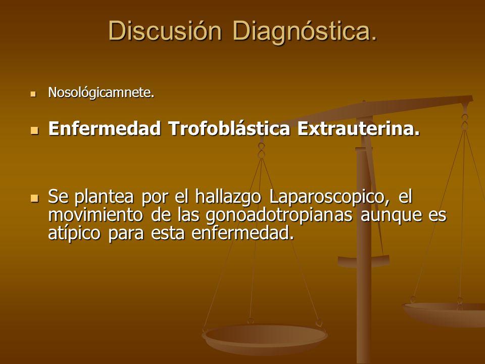 Discusión Diagnóstica.