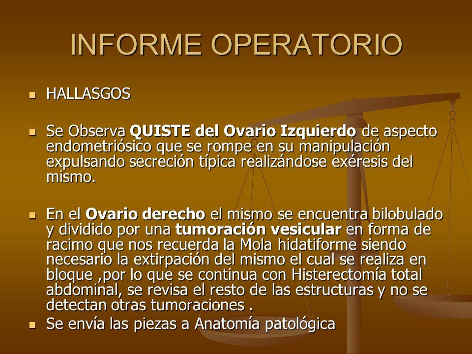 INFORME OPERATORIO HALLASGOS
