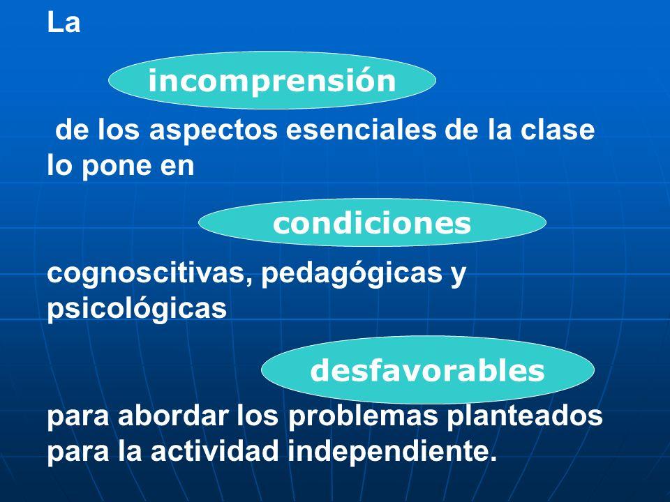 La de los aspectos esenciales de la clase lo pone en. cognoscitivas, pedagógicas y psicológicas.