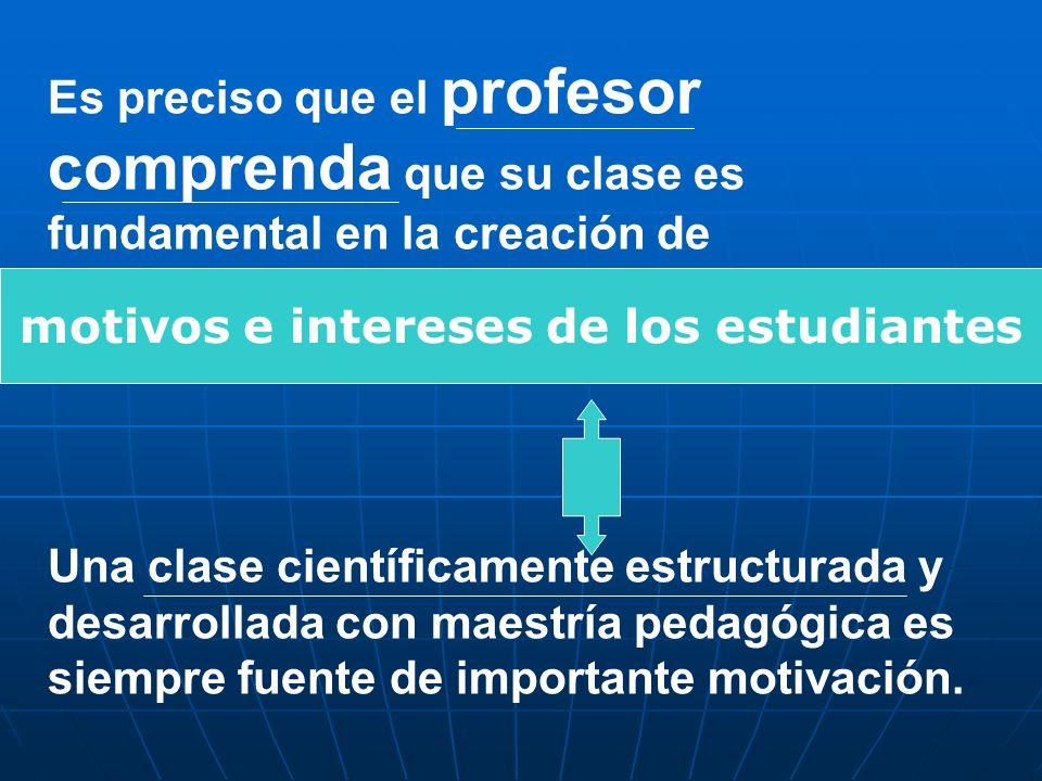 motivos e intereses de los estudiantes