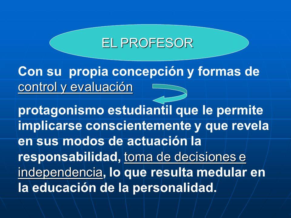 Con su propia concepción y formas de control y evaluación