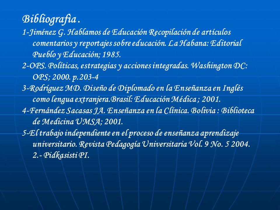 Bibliografìa .