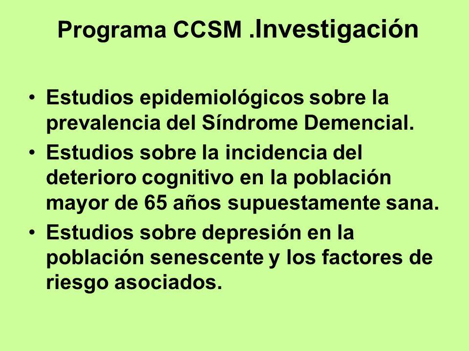 Programa CCSM .Investigación