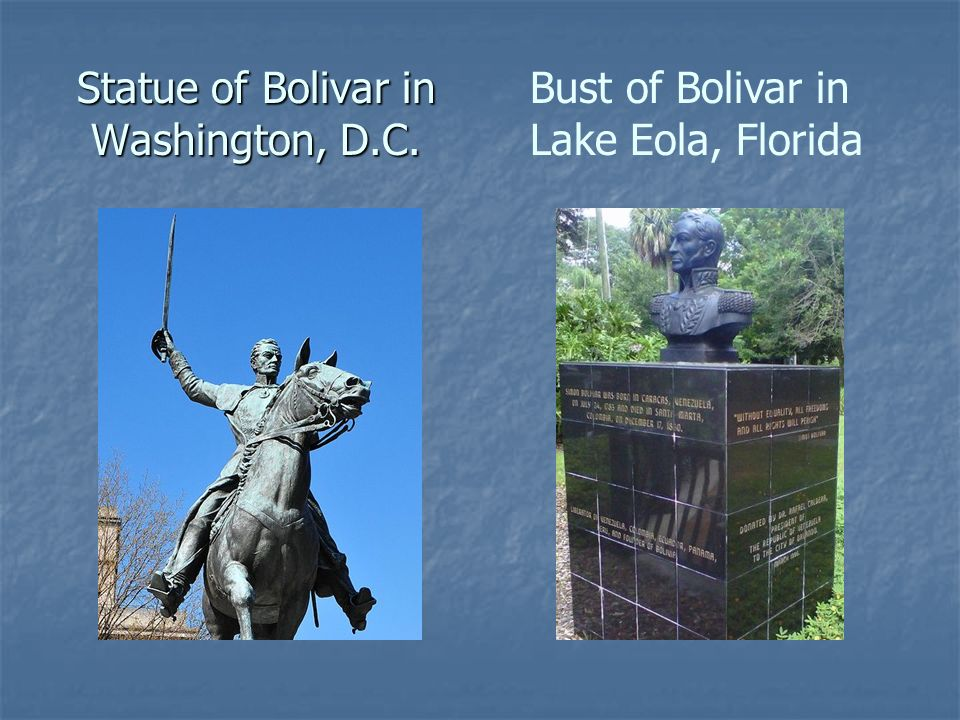 Statue of Bolivar in Washington, D.C.