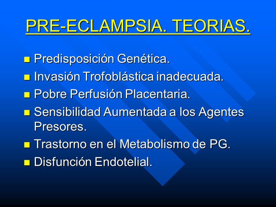 PRE-ECLAMPSIA. TEORIAS.