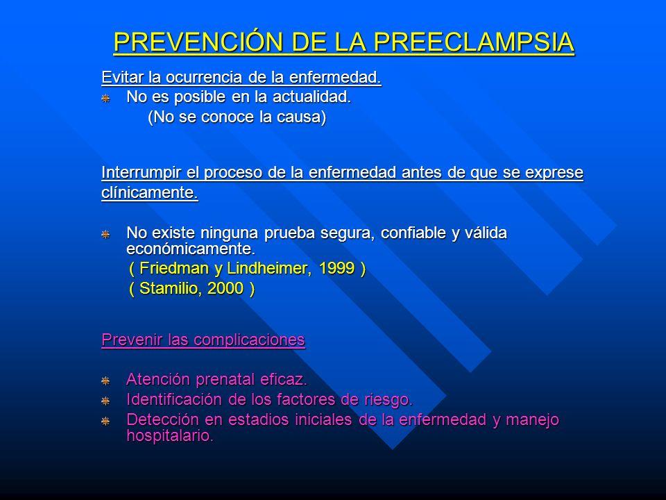 PREVENCIÓN DE LA PREECLAMPSIA